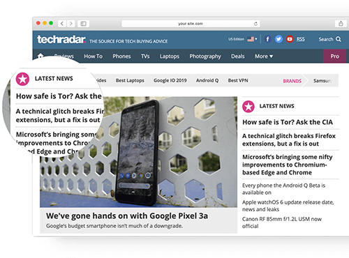 Techradar homepage foto