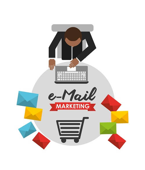 Man engaged in email marketing
